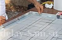 Пайка серебряных контактов и соединение всех солнечных элементов