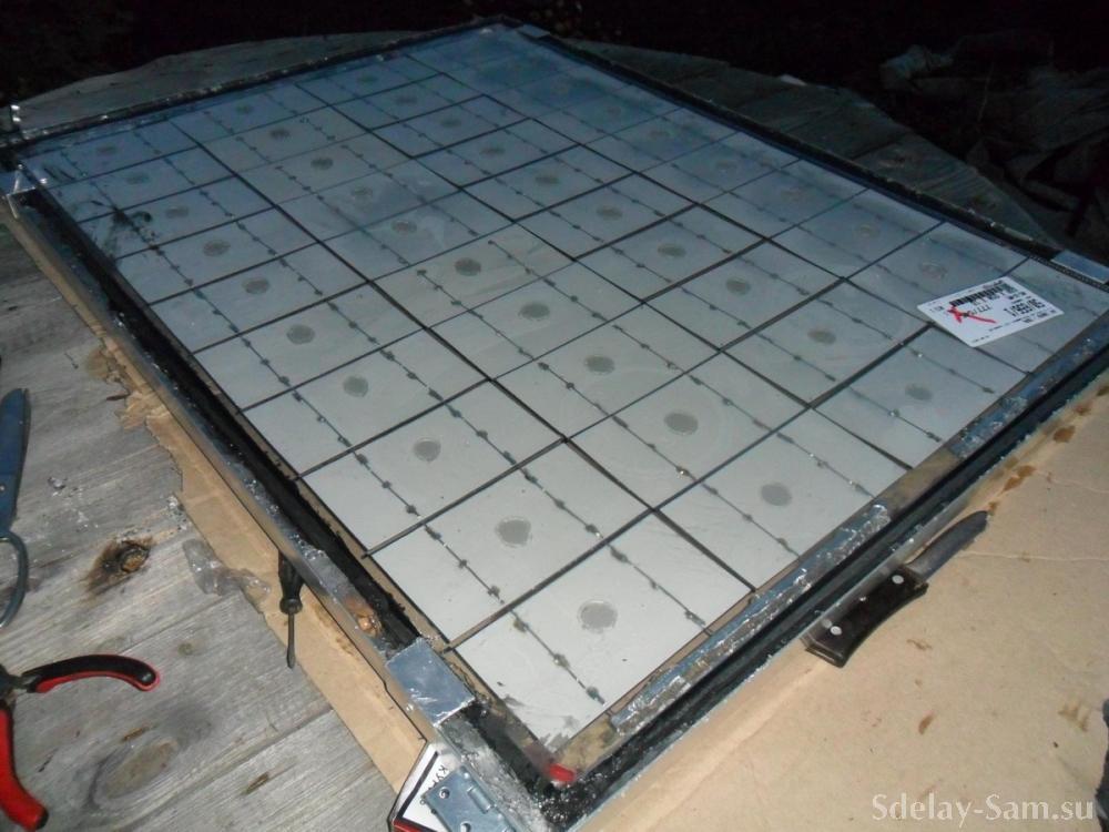 Солнечная батарея. Вид сзади